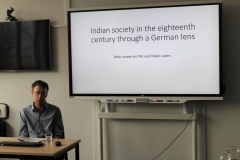 Chen Tzoref-Ashkenazi's talk about Indian society in the 18th century through  a German lens.