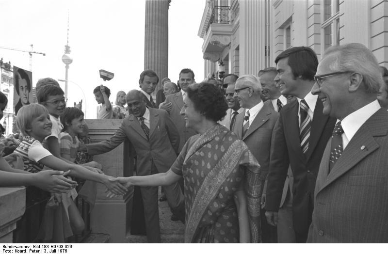 Berlin, Besuch Indira Gandhi; Stoph, Honecker