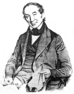 A lithography displaying a seated Nathaniel Wallich