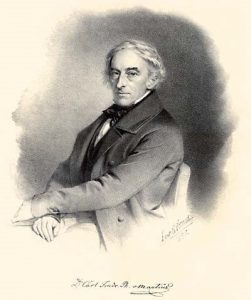 An engraved portrait of Carl Friedrich Philipp von Martius