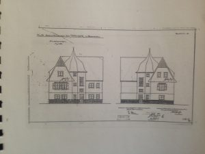 Bauplan des Buddhistischen Hauses 1924