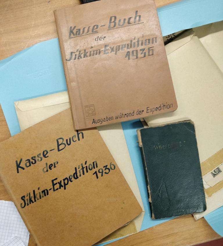 Account books of the Sikkim Expedition of 1936